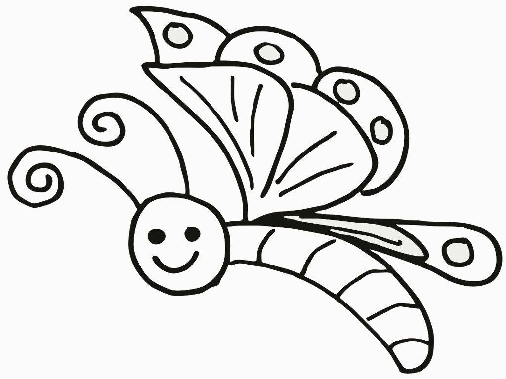 Free Printable Butterfly Coloring Pages For Kids For Butterfly - Free Printable Butterfly Coloring Pages