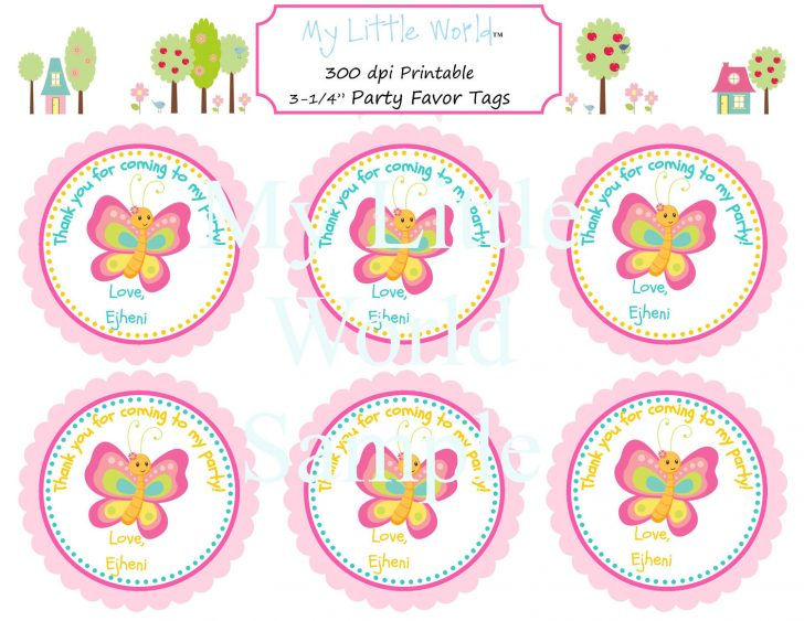 Party Favor Tags Free Printable