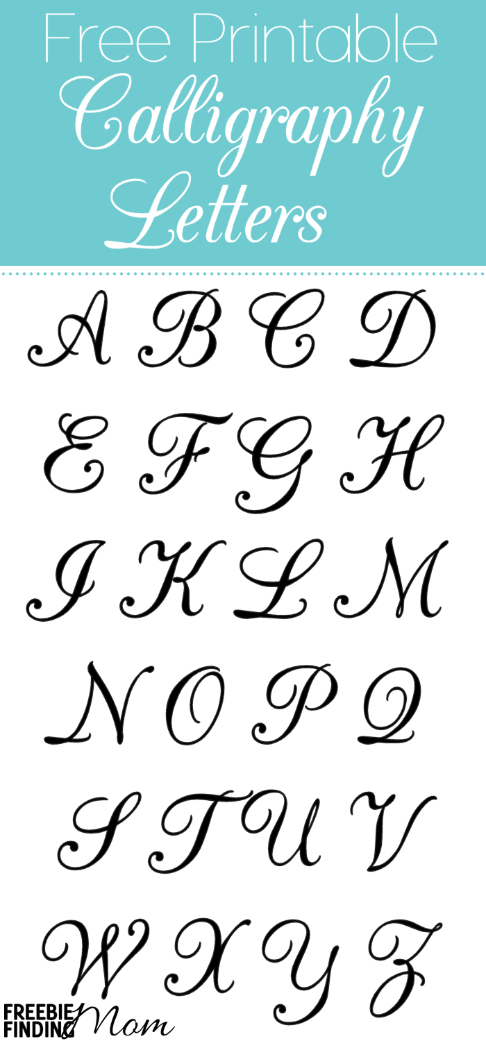 Free Printable Calligraphy Letters | Crafts & Diy Project Ideas - Free Printable Old English Letters