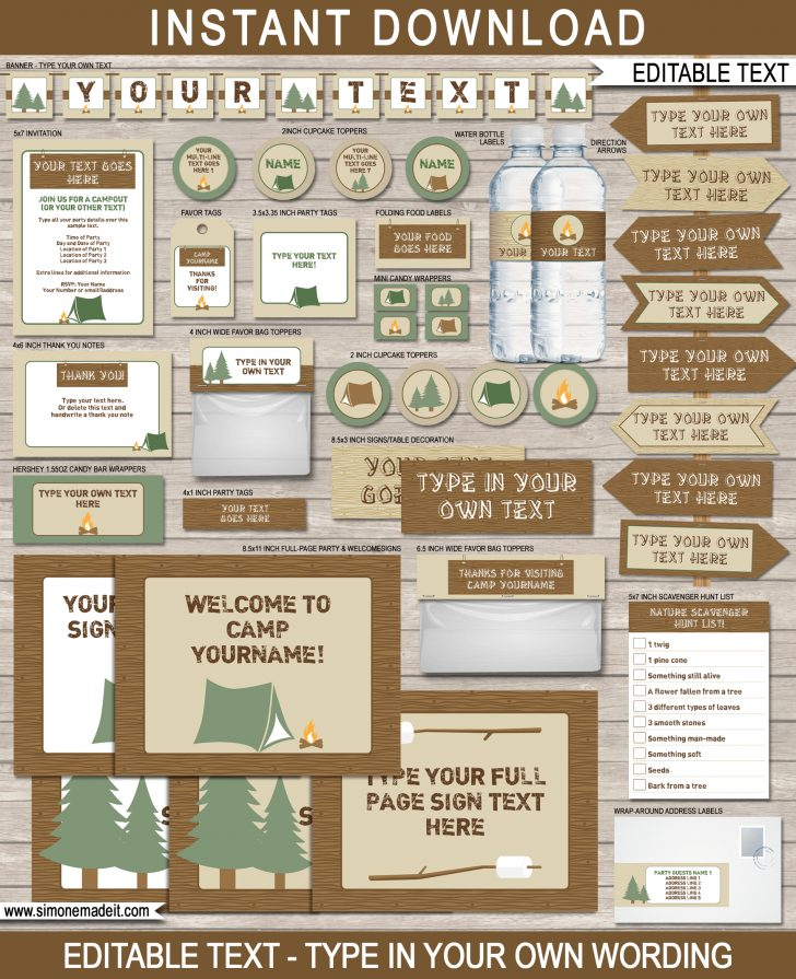 Free Printable Camping Signs