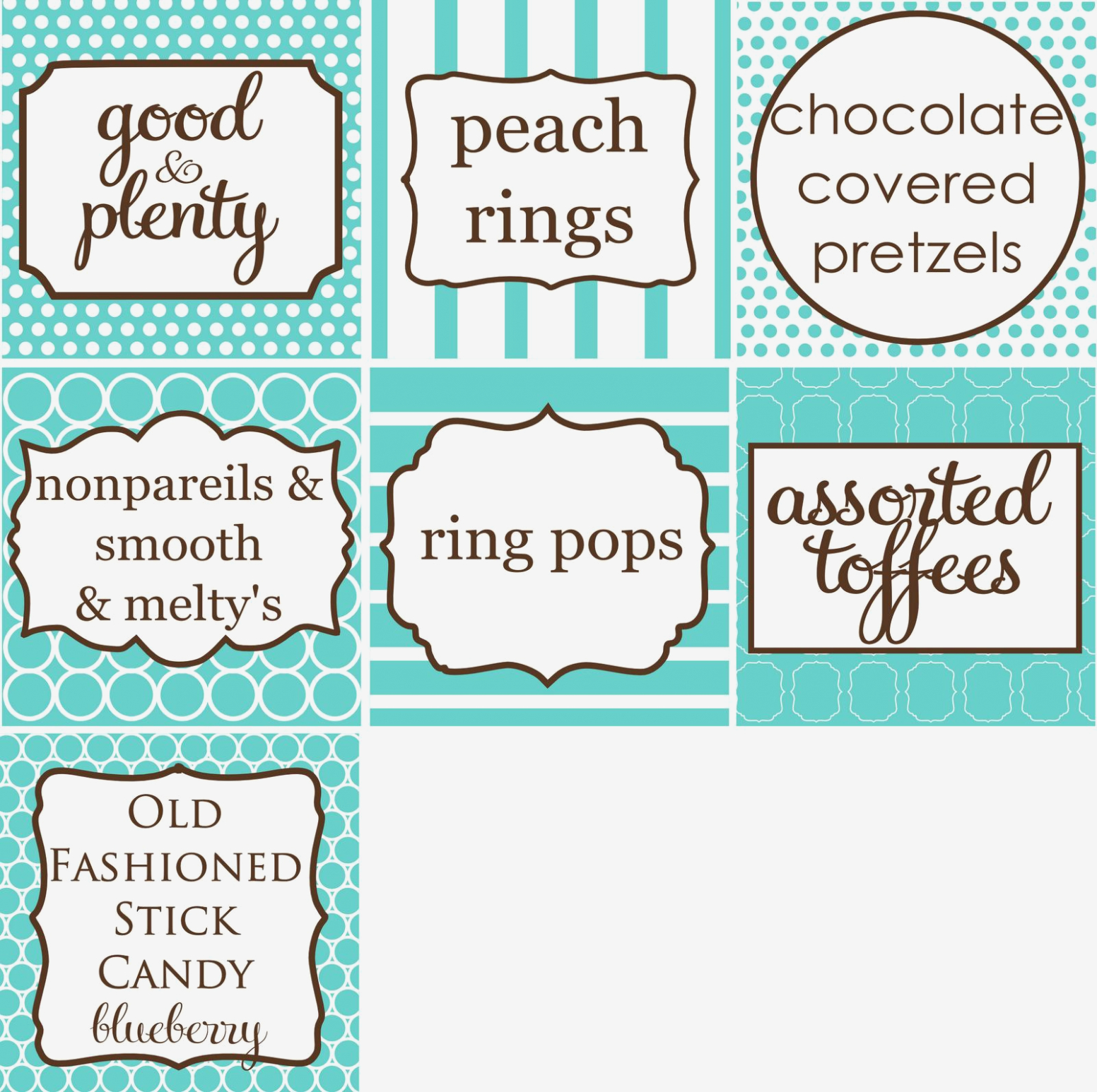 Free Printable Candy Buffet Labels Templates Download Now Index Of - Free Printable Candy Buffet Labels Templates