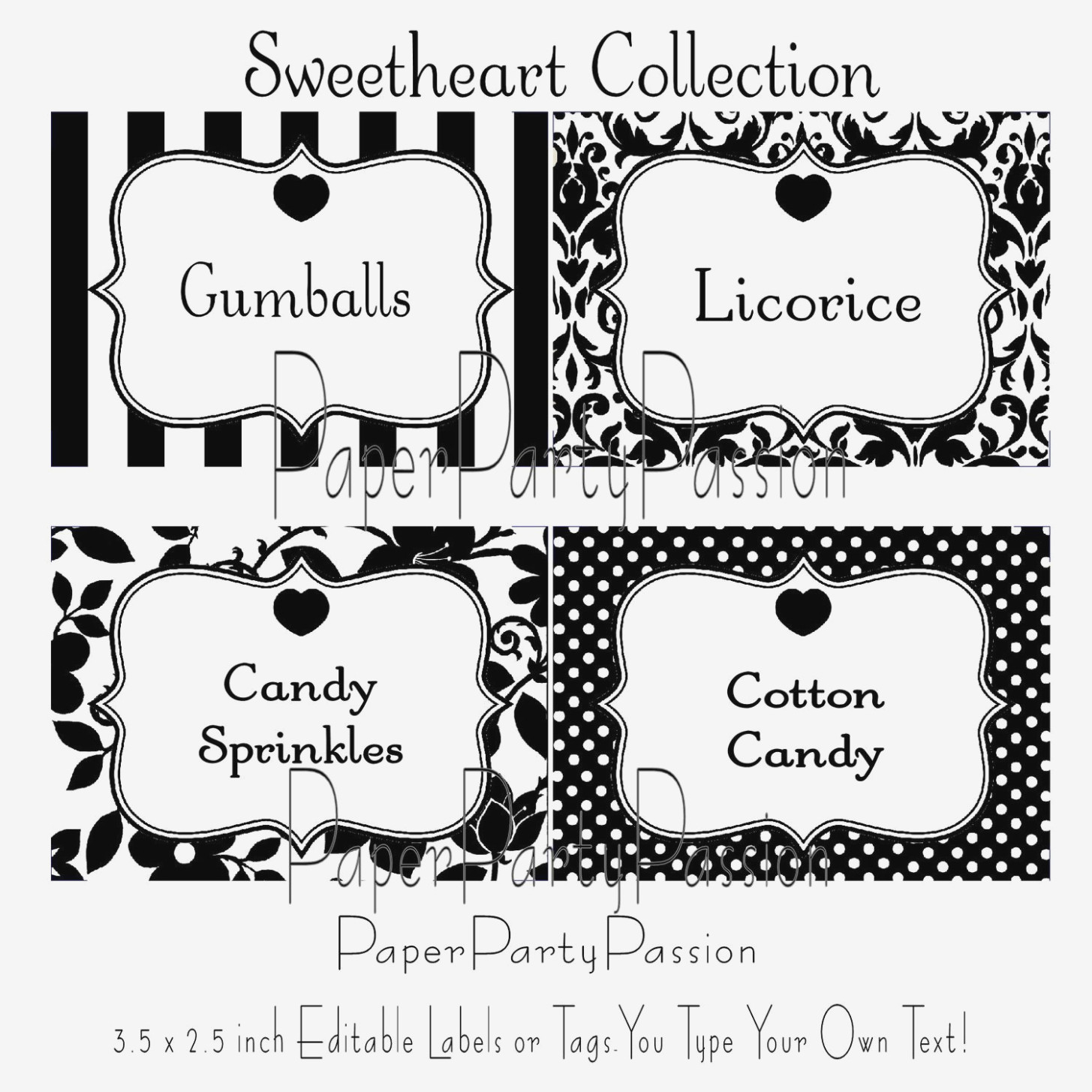 Free Printable Candy Buffet Labels Templates .. – Label Maker Ideas - Free Printable Candy Buffet Labels Templates