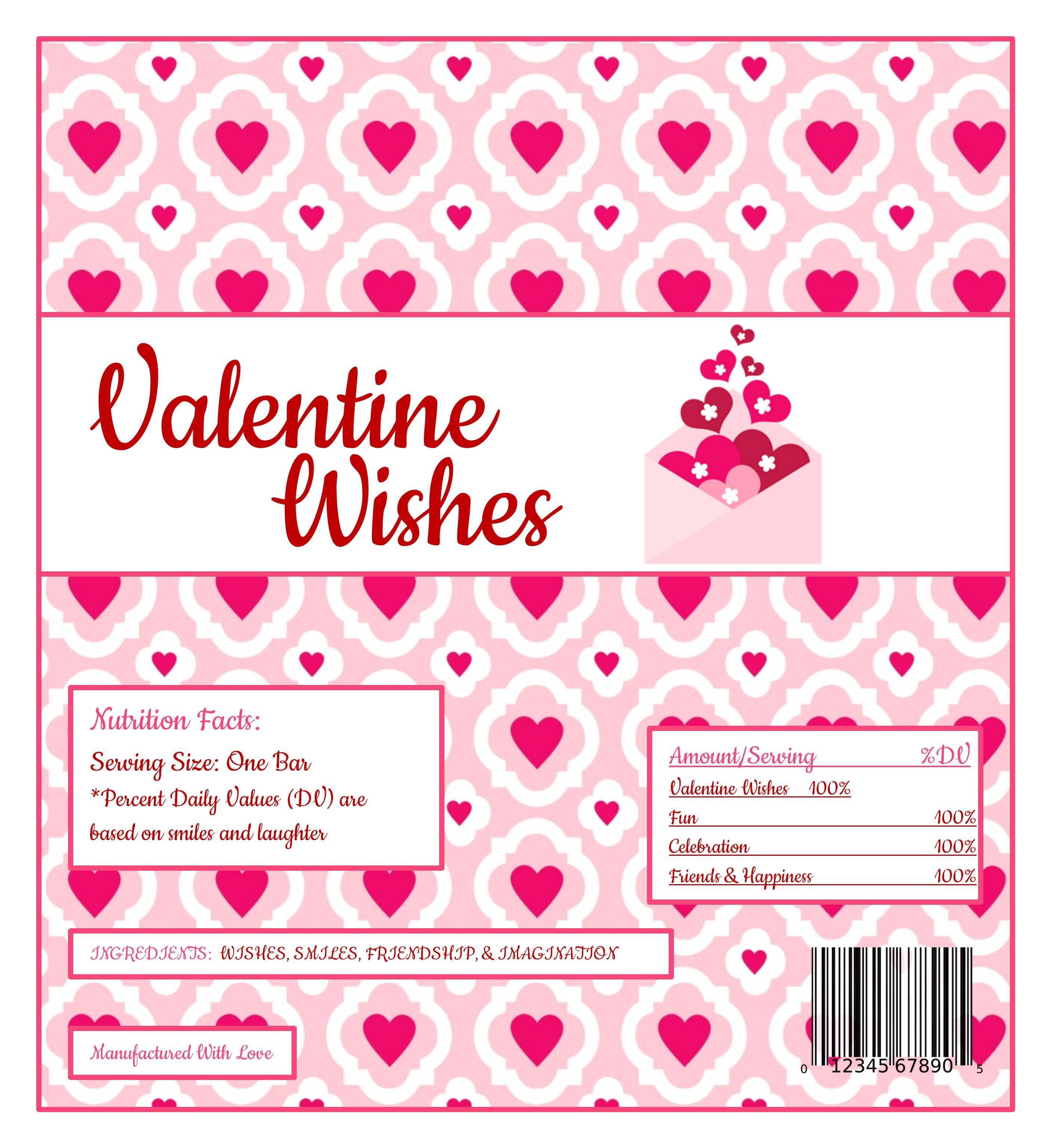 Free Printable Candy Wrapper | Valentines Day Parties & Ideas - Free Printable Candy Bar Wrappers