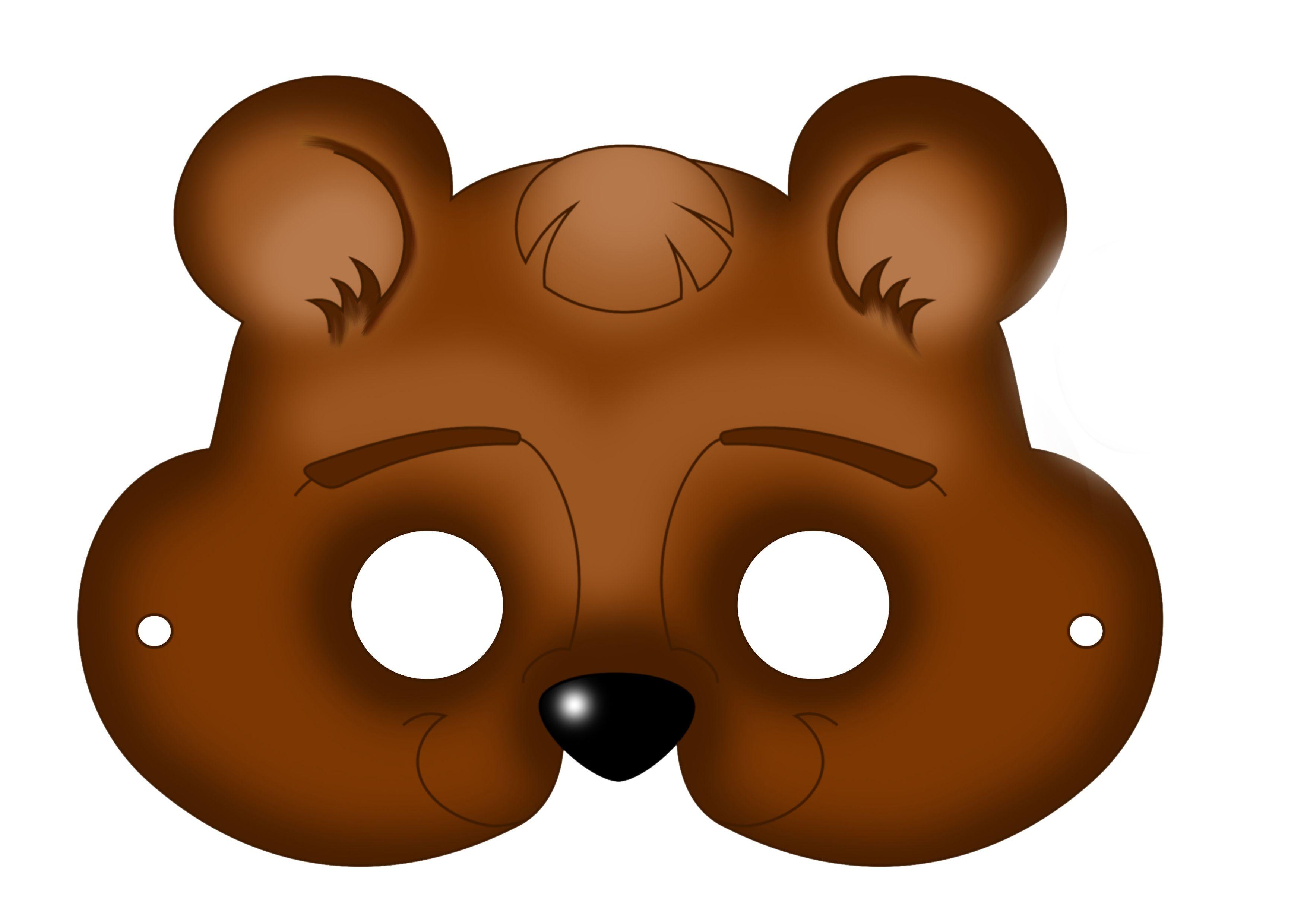 Free Printable Carnival Masks For Kids. | Ideas | Bear Mask, Mask - Free Printable Bear Mask
