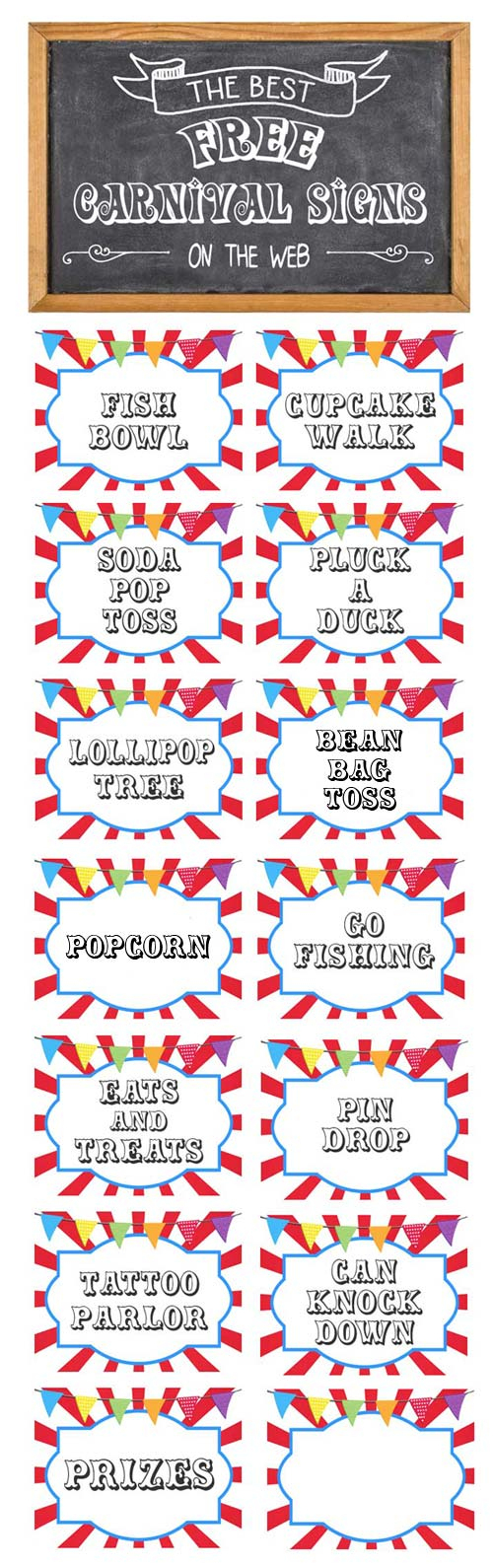 Free Printable Carnival Signs - Free Printable Carnival Signs
