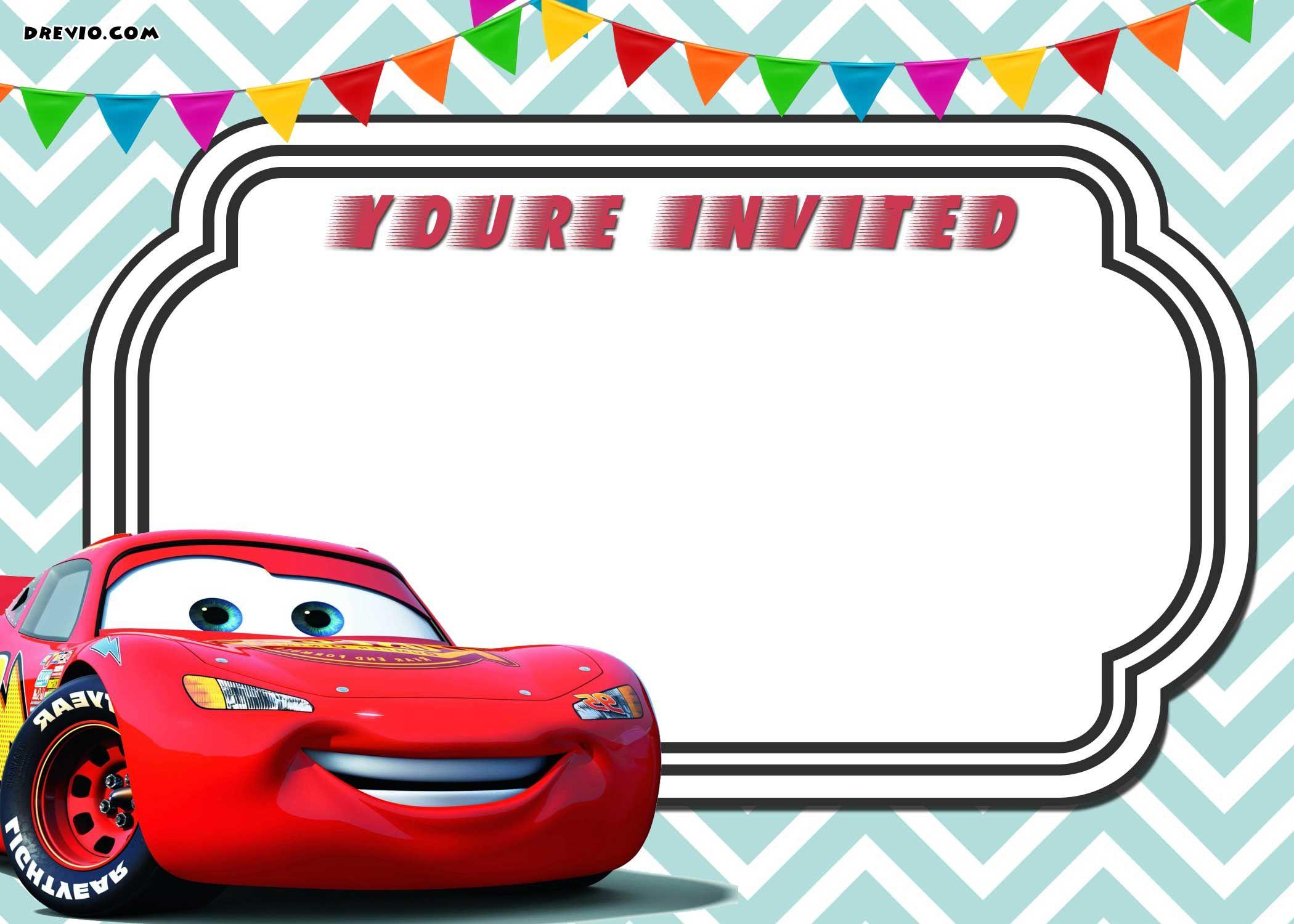 Free Printable Cars 3 Lightning Mcqueen Invitation | Free - Free Printable Birthday Invitations Cars Theme