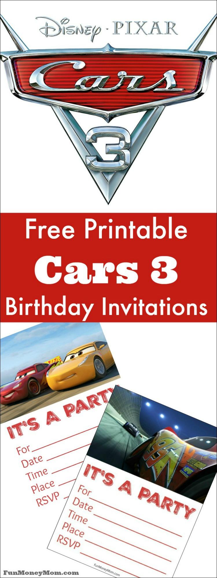 Free Printable Cars Birthday Invitations - Fun Money Mom - Free Printable Birthday Invitations Cars Theme