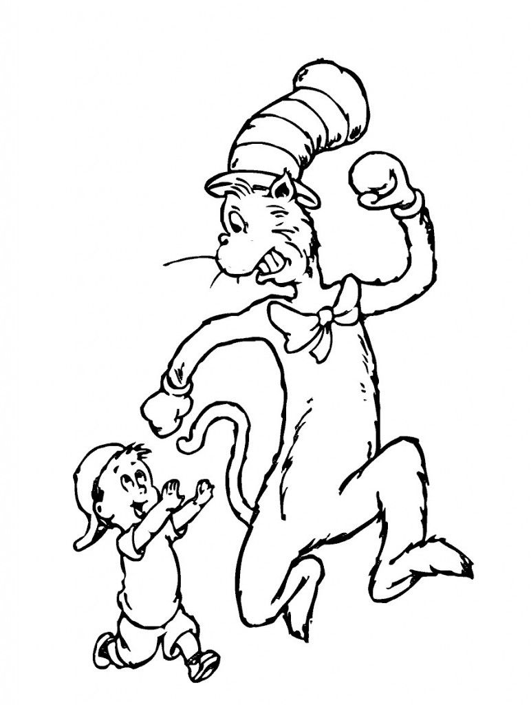 Free Printable Cat In The Hat Coloring Pages For Kids   Movies And - Free Printable Cat In The Hat Pictures