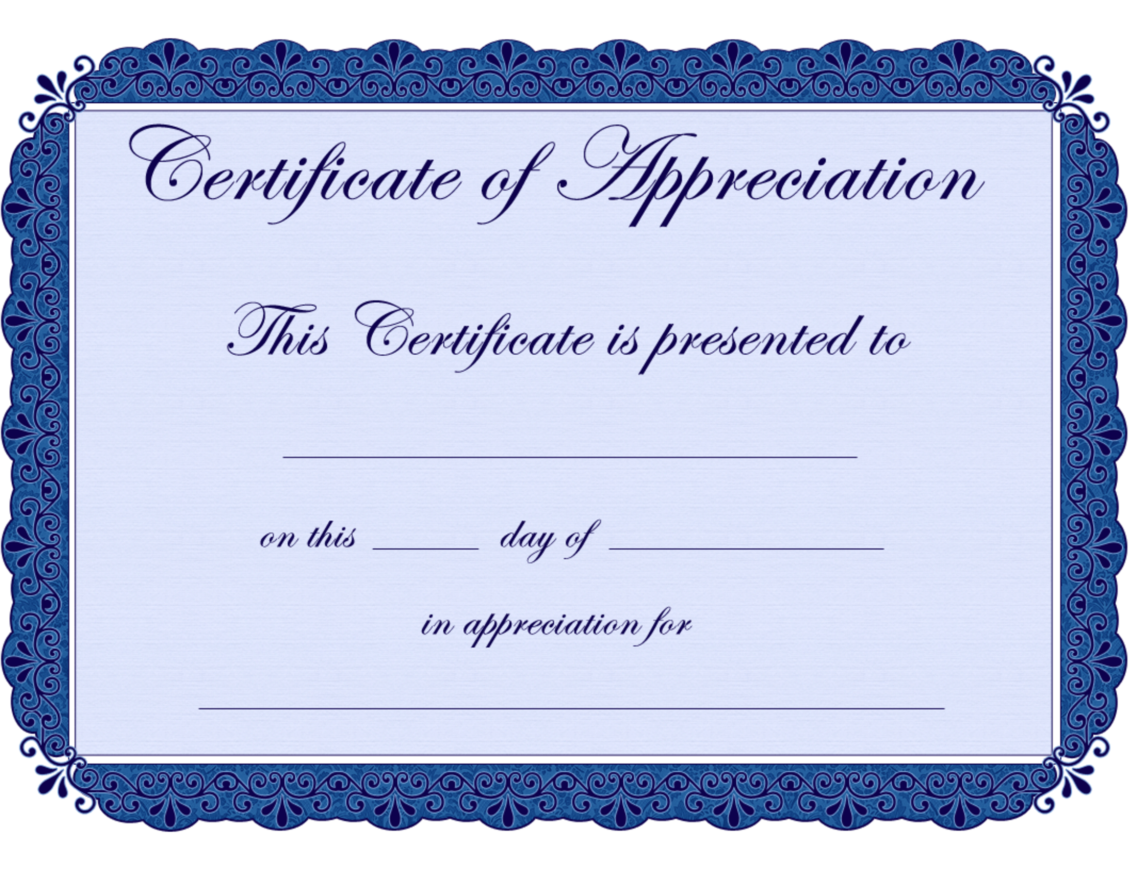 Free Printable Certificates Certificate Of Appreciation Certificate - Free Printable Certificates For Teachers