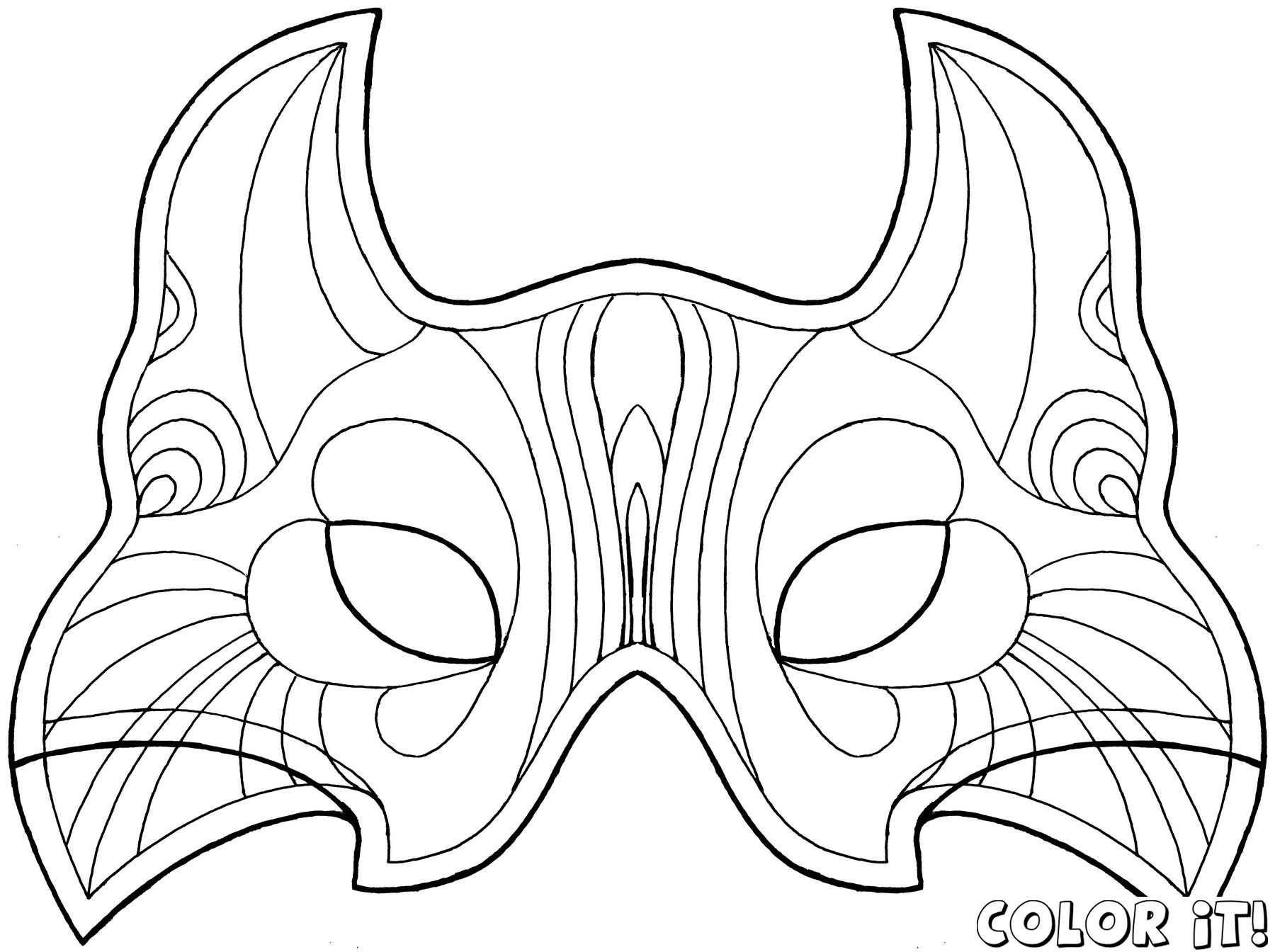 Free Printable Character Face Masks | Masks,  Image Templates - Free Printable Face Masks
