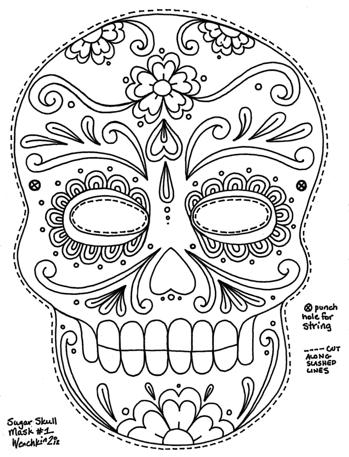 Free Printable Character Face Masks | Seasonal Activities | Skull - Free Printable Face Masks