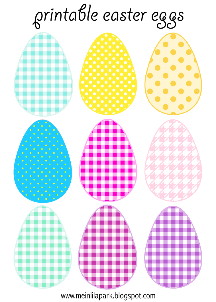 Free Printable Cheerfully Colored Easter Eggs - Ausdruckbare - Free Printable Easter Stuff
