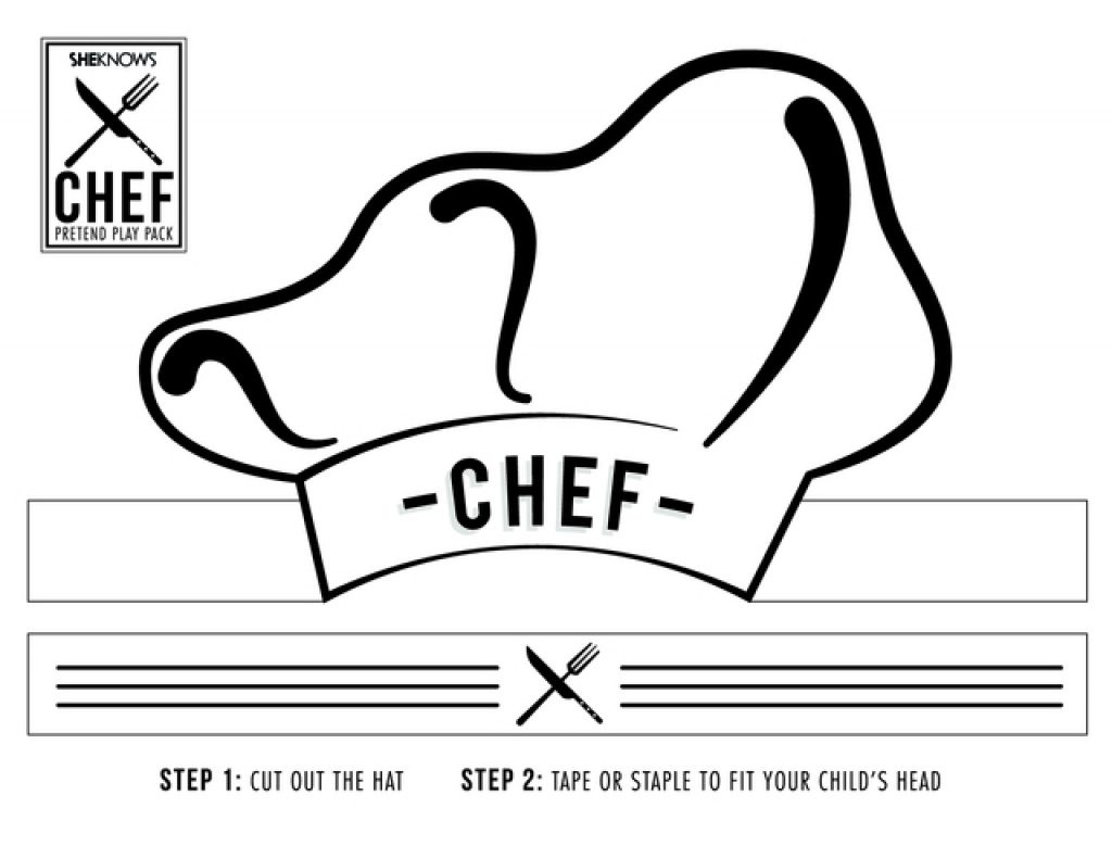 Free Printable Chef Hat Pattern | Free Printable - Free Printable Chef Hat Pattern
