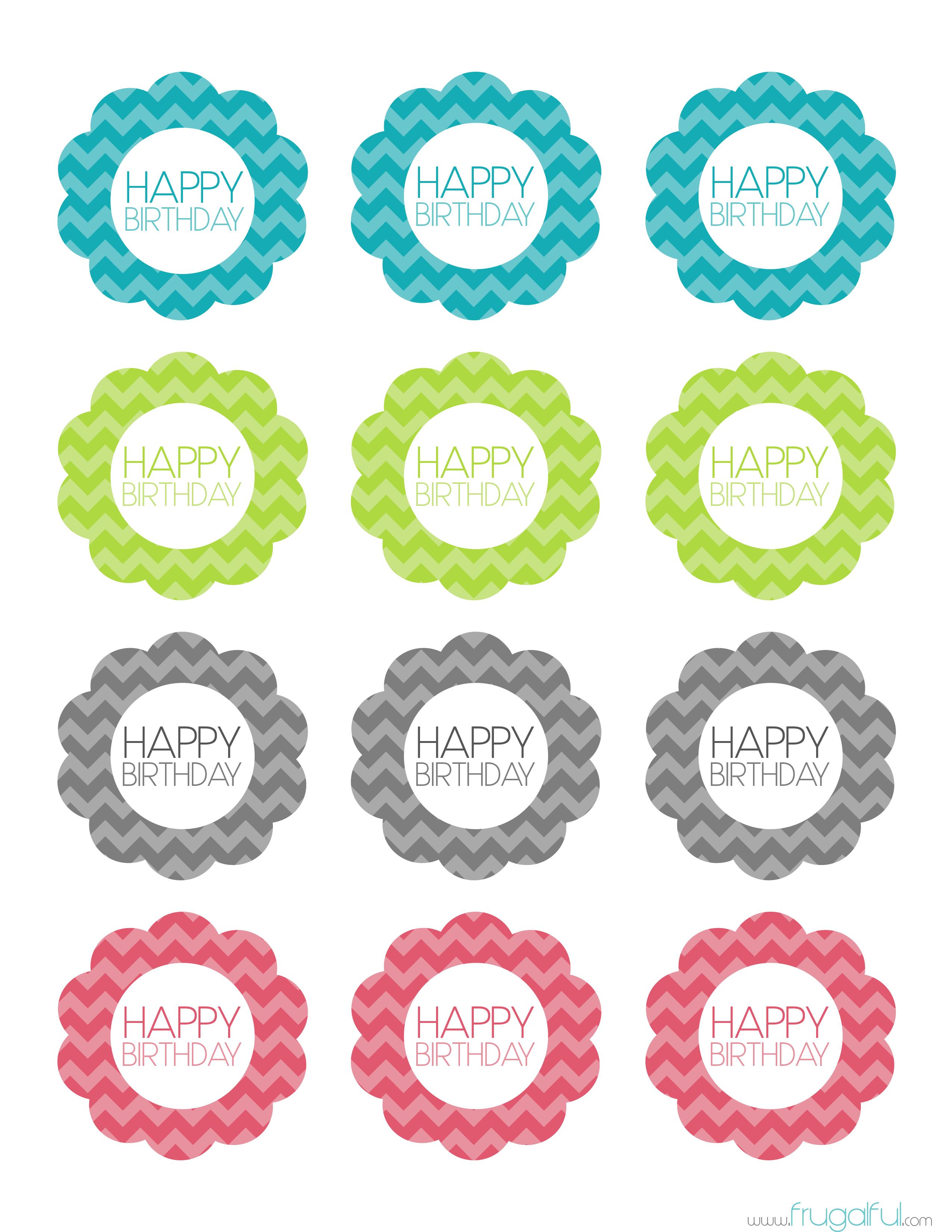 Free Printable Chevron Birthday Cupcake Topper Cakepins - Cupcake Flags Printable Free