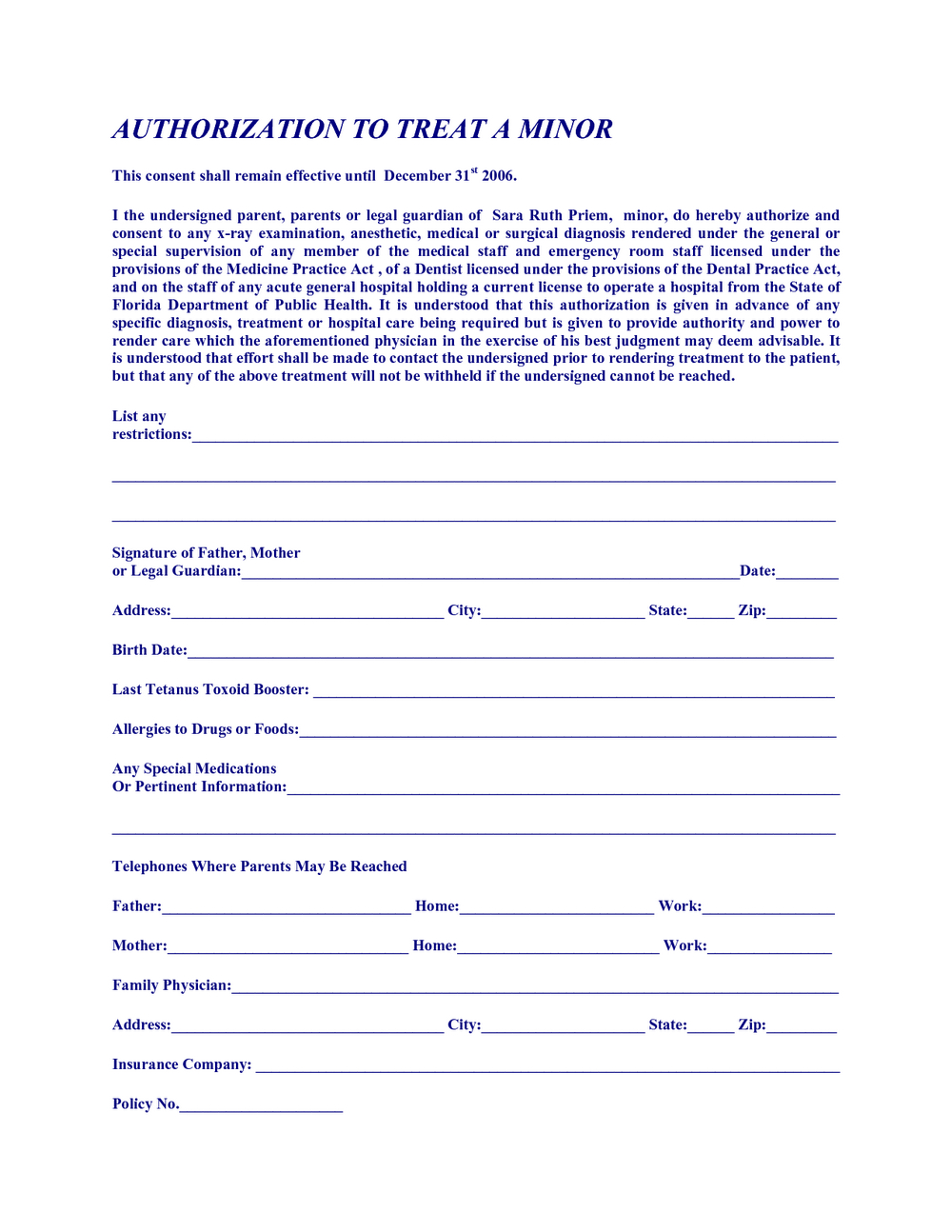 Free Printable Child Medical Consent Form For Grandparents | Mbm Legal - Free Printable Child Medical Consent Form