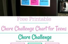 Free Printable Teenage Chore Chart