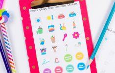 Chore Stickers Free Printable