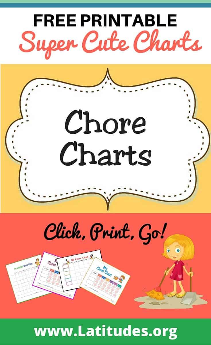 Free Printable Chore Charts For Kids | Acn Latitudes - Free Printable Chore Bucks