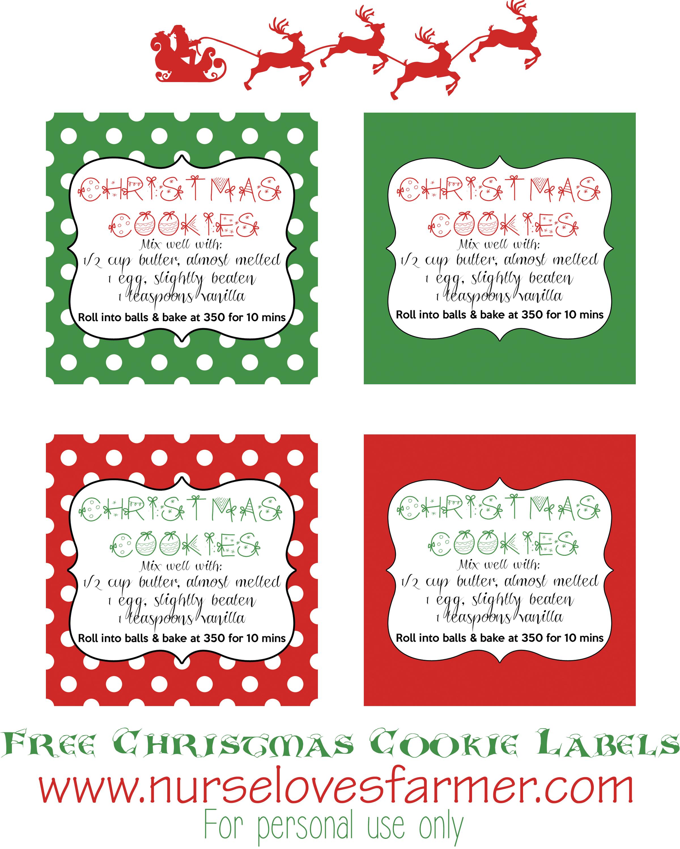 Free Printable Christmas Baking Labels – Festival Collections - Free Printable Baking Labels
