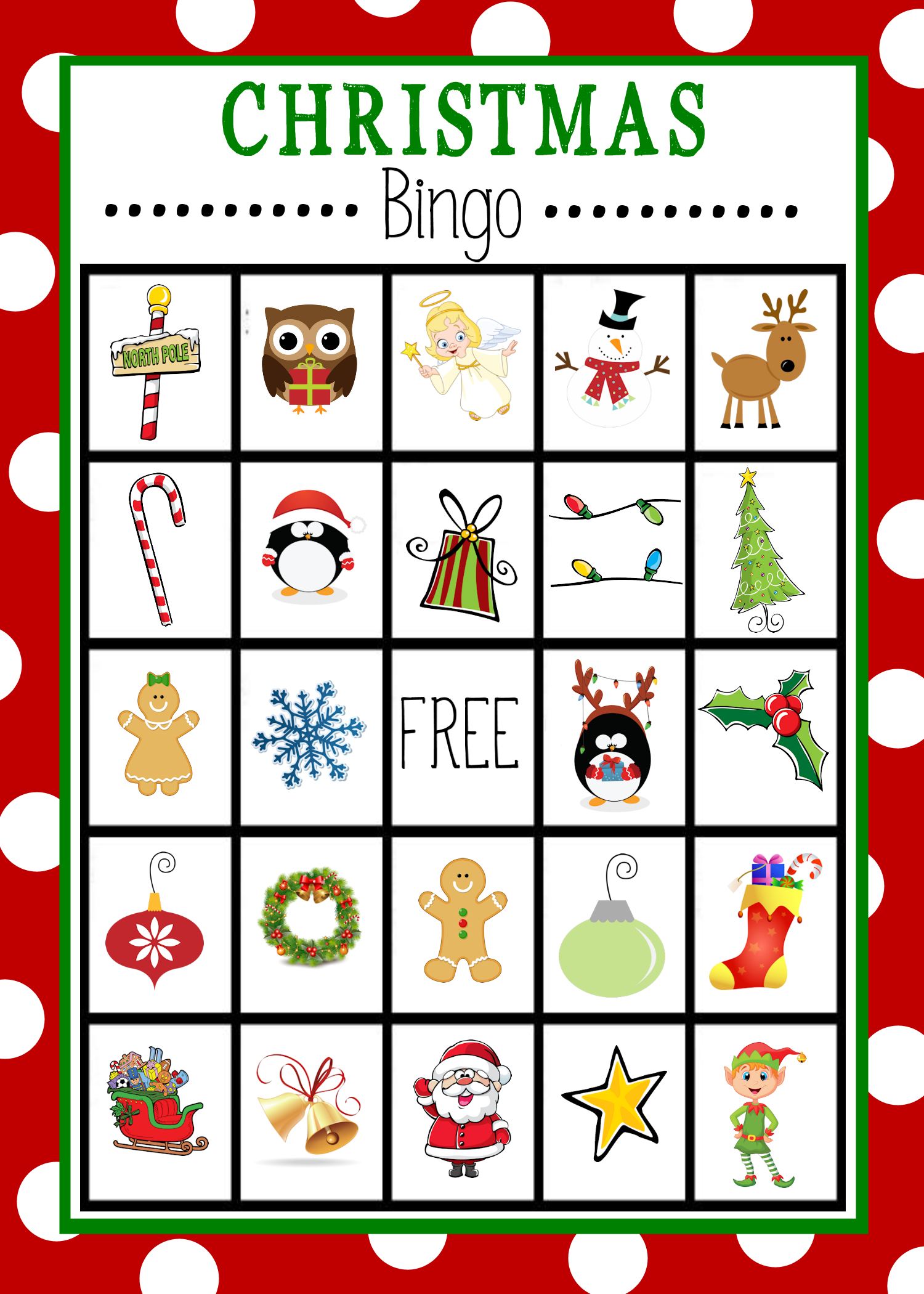 Free Printable Christmas Bingo Game | Christmas | Pinterest - Free Printable Bingo