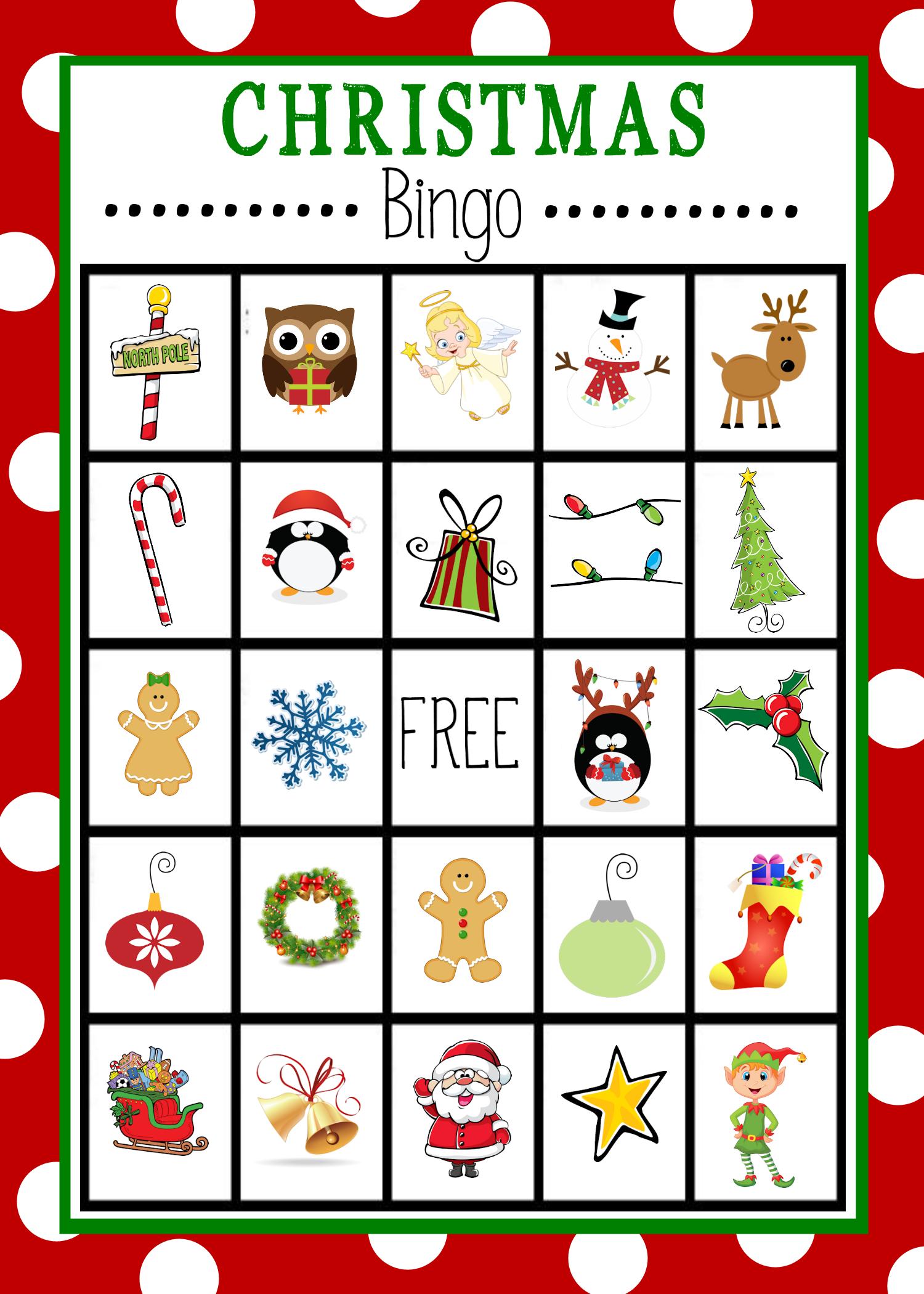 Free Printable Christmas Bingo Game | Christmas | Pinterest - Free Printable Christmas Bingo