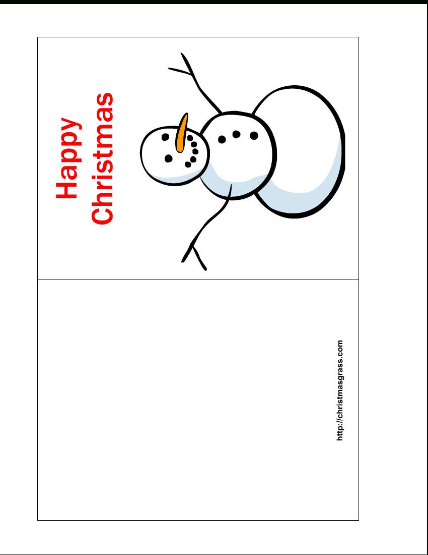 Free Printable Christmas Cards | Free Printable Happy Christmas Card - Free Printable Christmas Card Templates