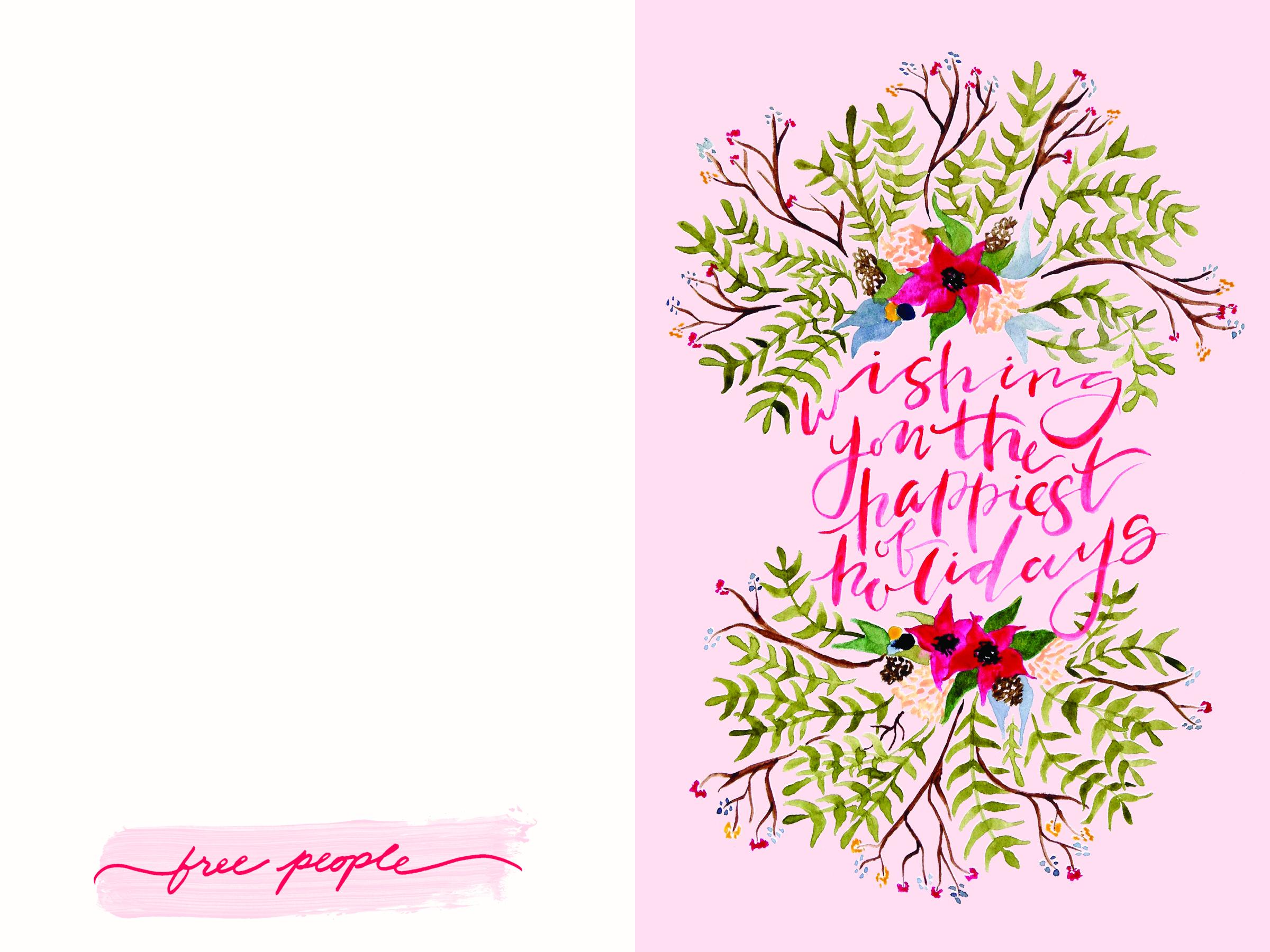 Free Printable Christmas Cards   Website - Free Printable Happy Holidays Greeting Cards