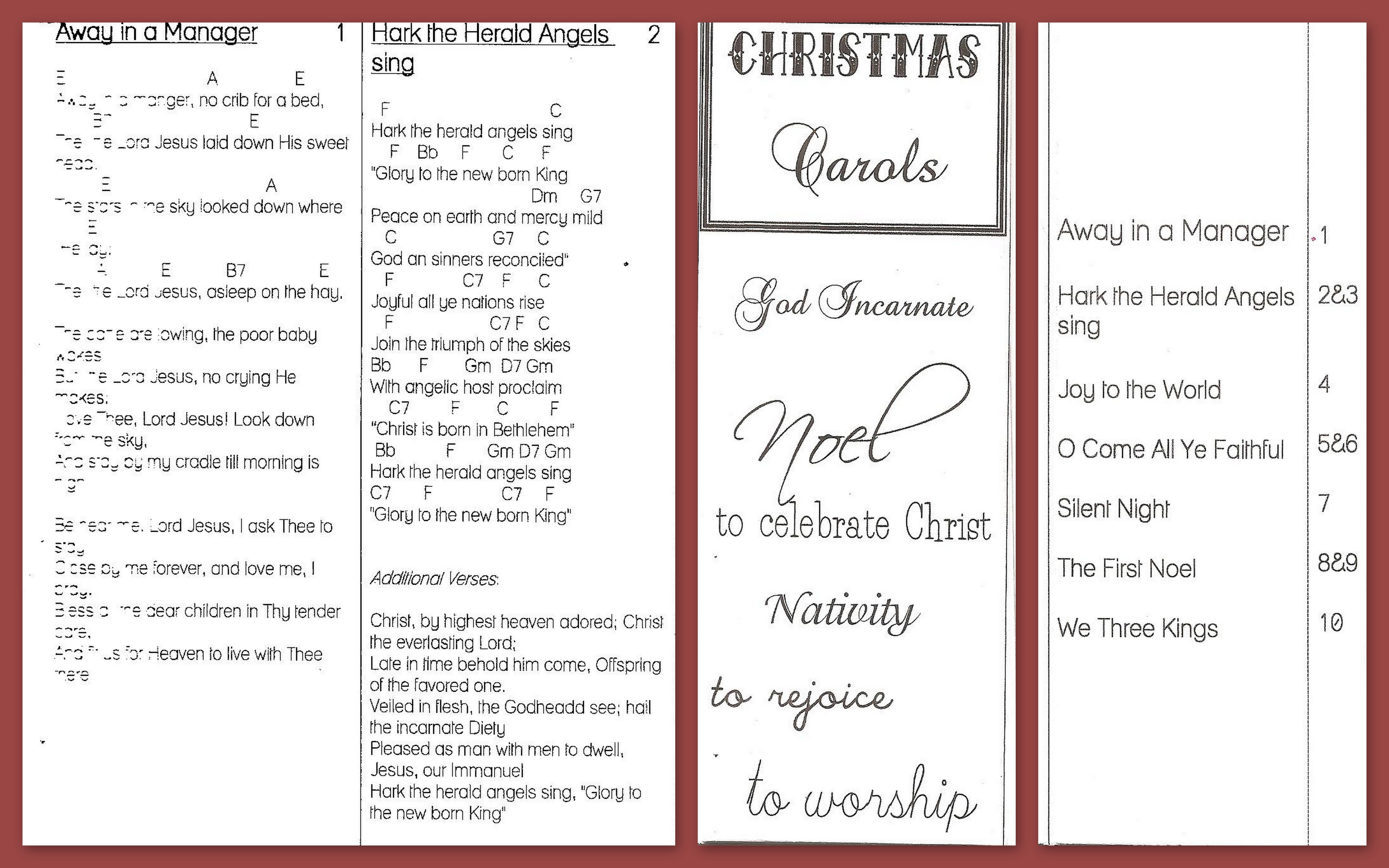 Free Printable Christmas Carols Booklet – Festival Collections - Free Printable Christmas Carols Booklet