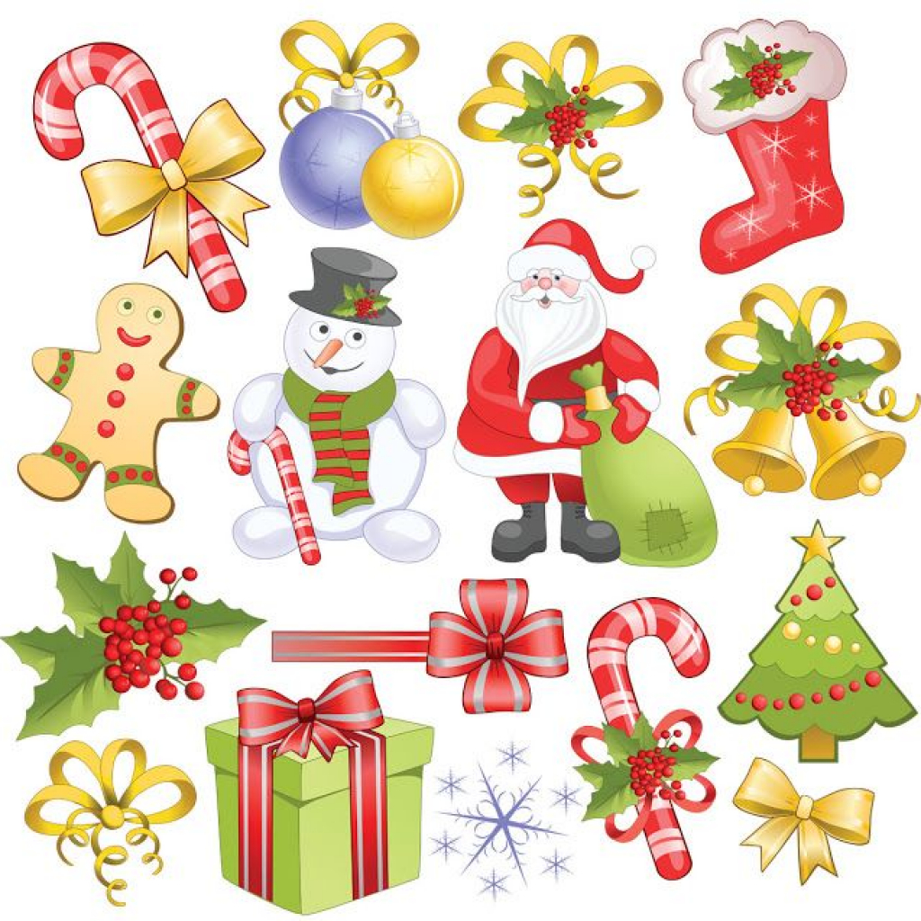 Free Printable Christmas Clip Art | Free Clipart Download - Free Printable Christmas Clip Art