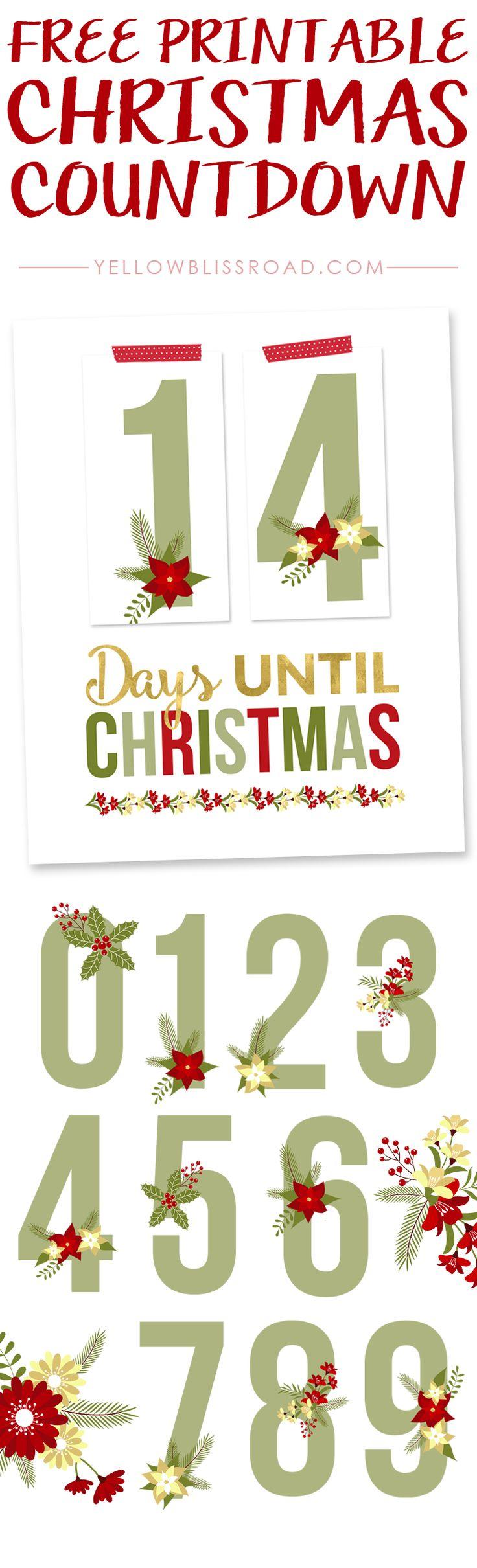 Free Printable Christmas Countdown   Bake Craft Sew Decorate - Free Printable Christmas Photo Collage