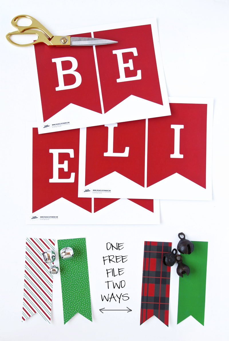 Free Printable Christmas Decor From Paging Supermom - Free Printable Christmas Decorations