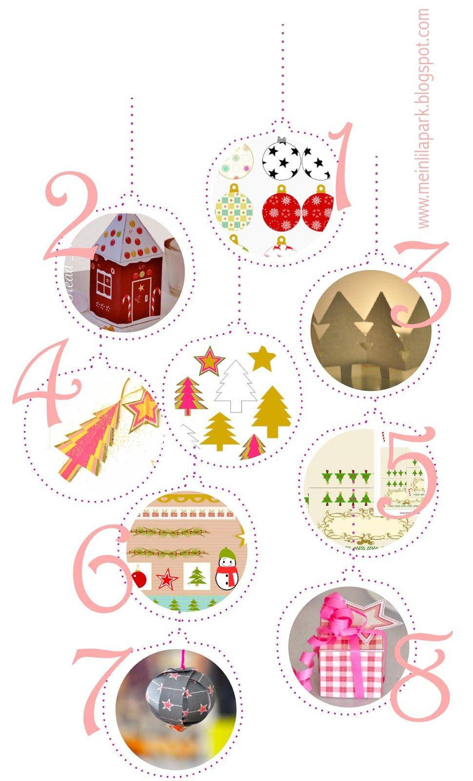 Free Printable Christmas Decorations - Ausdruckbare - Free Printable Christmas Decorations