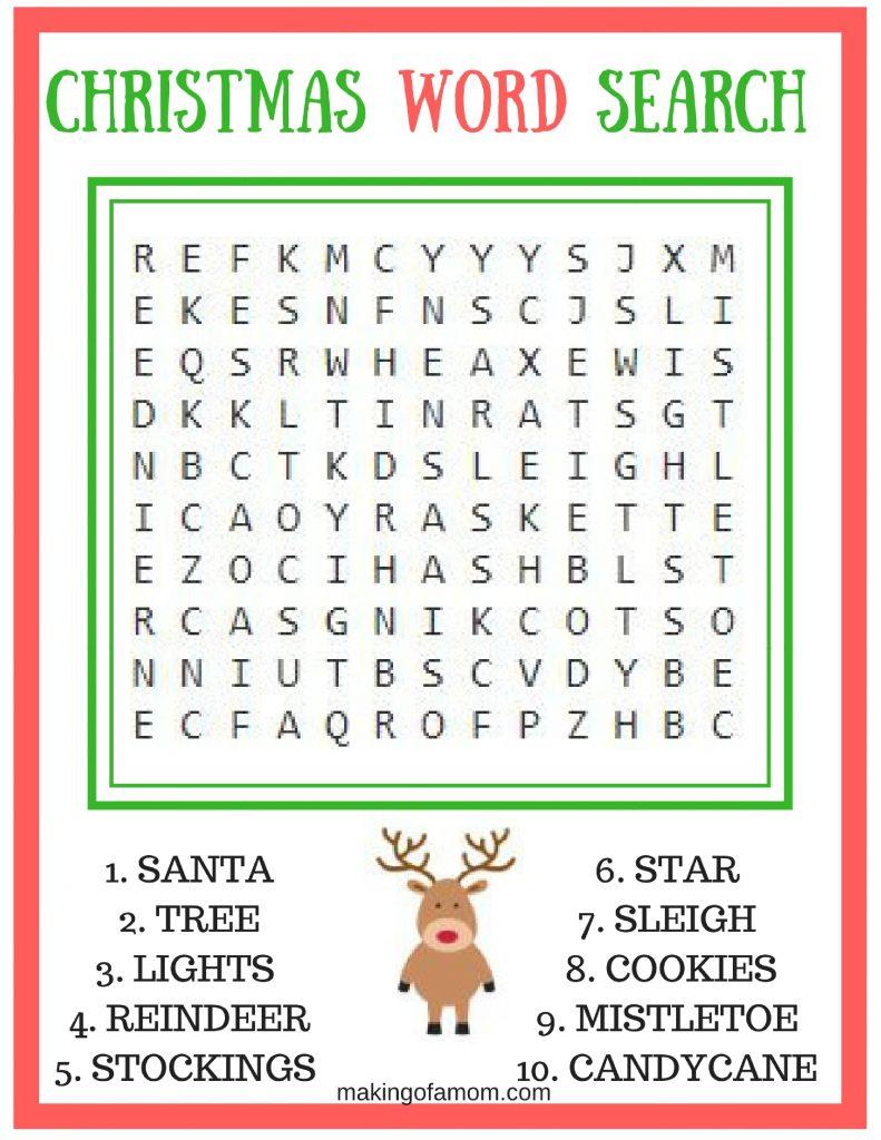 Free Printable Christmas Games - Making Of A Mom - Free Printable Christmas Word Games For Adults