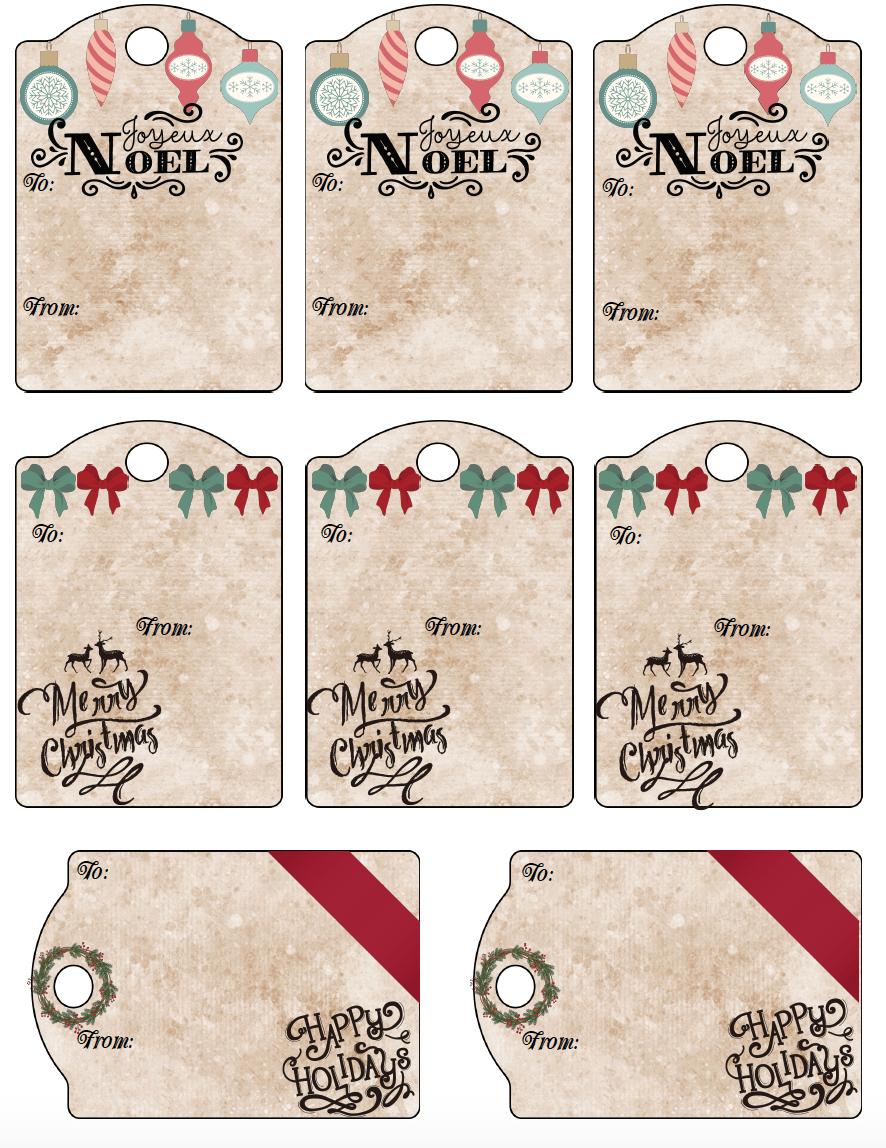Free Printable Christmas Gift Tags: 13 Designs. Just Print And Use! - Free Printable Christmas Designs