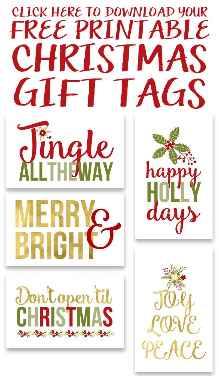 Diy Christmas Gift Tags Free Printable