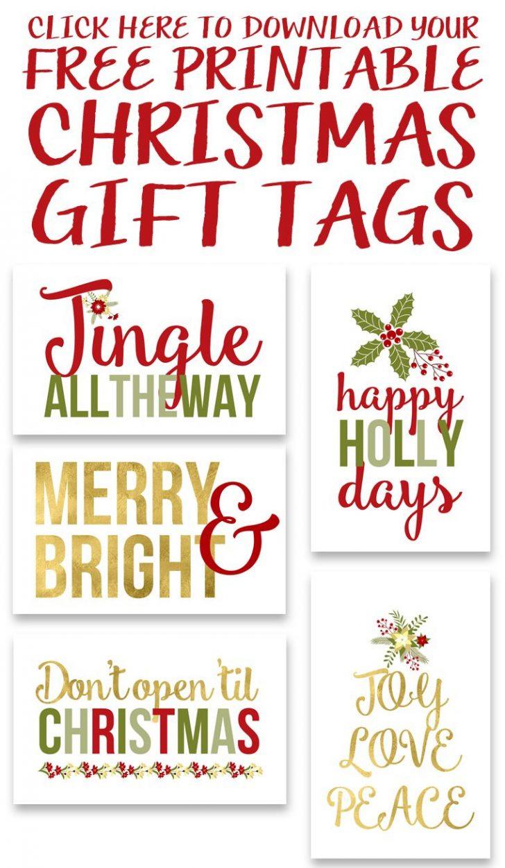 Diy Christmas Gift Tags Free Printable