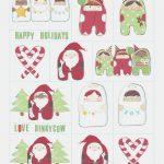 Free Printable Christmas Gift Tags   Dinky Cow – Free Printable   Free Printable Holiday Gift Labels