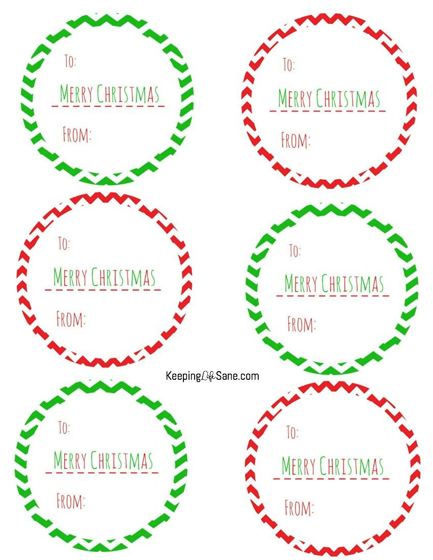 Free Printable Christmas Gift Tags - Keeping Life Sane - Free Printable Holiday Gift Labels