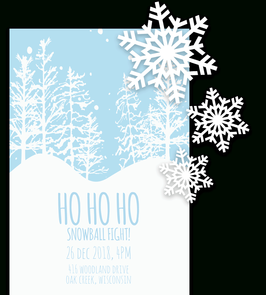 Free Printable Christmas Invitation Templates In Word! - Free Printable Christmas Invitations