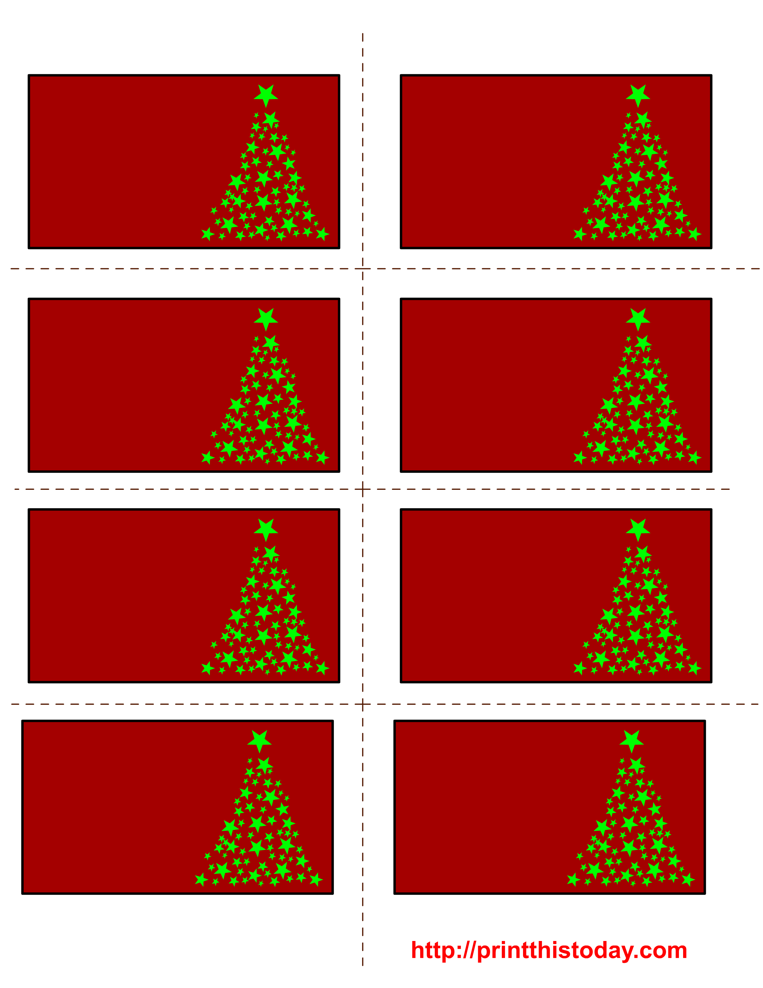 Free Printable Christmas Labels With Trees - Christmas Labels Free Printable Templates