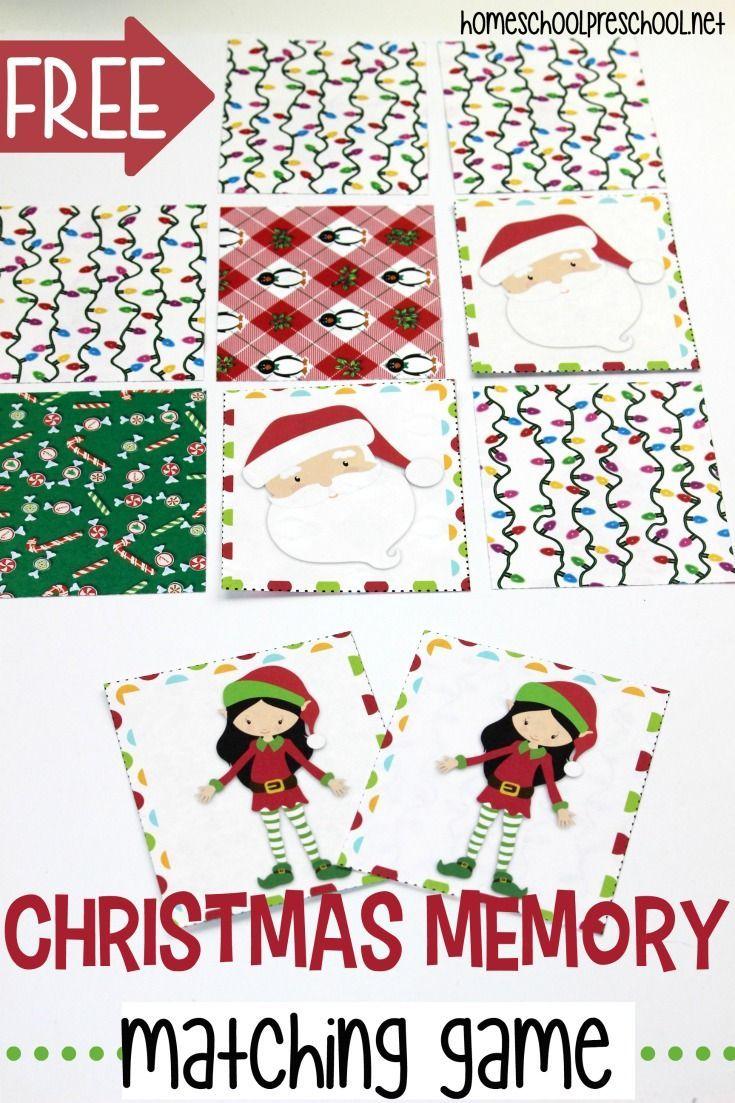 Free Printable Christmas Memory Game For Preschoolers | Holidays - Free Printable Christmas Games For Preschoolers