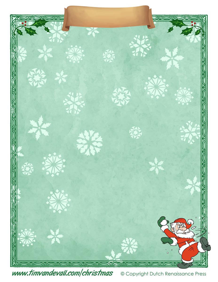 Free Printable Christmas Paper Templates - Free Printable Christmas Paper
