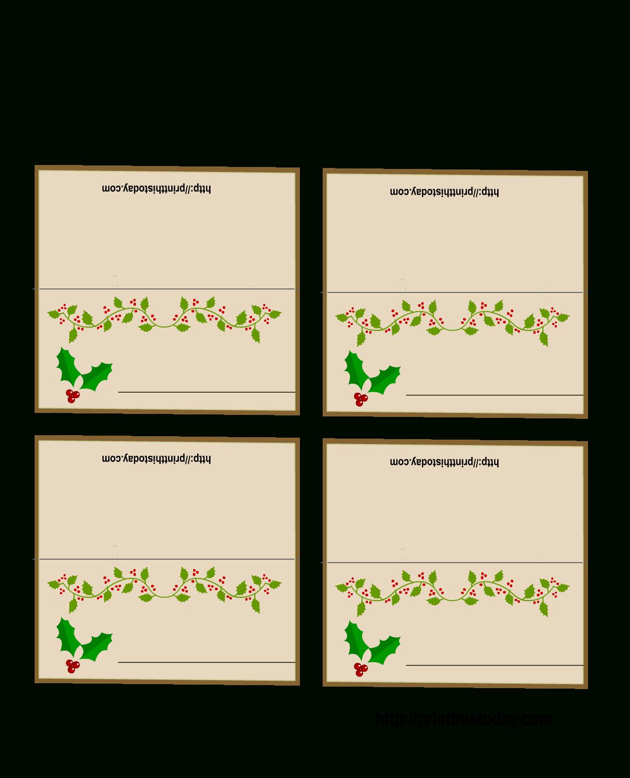 Free Printable Christmas Place-Cards - Free Printable Christmas Table Place Cards Template