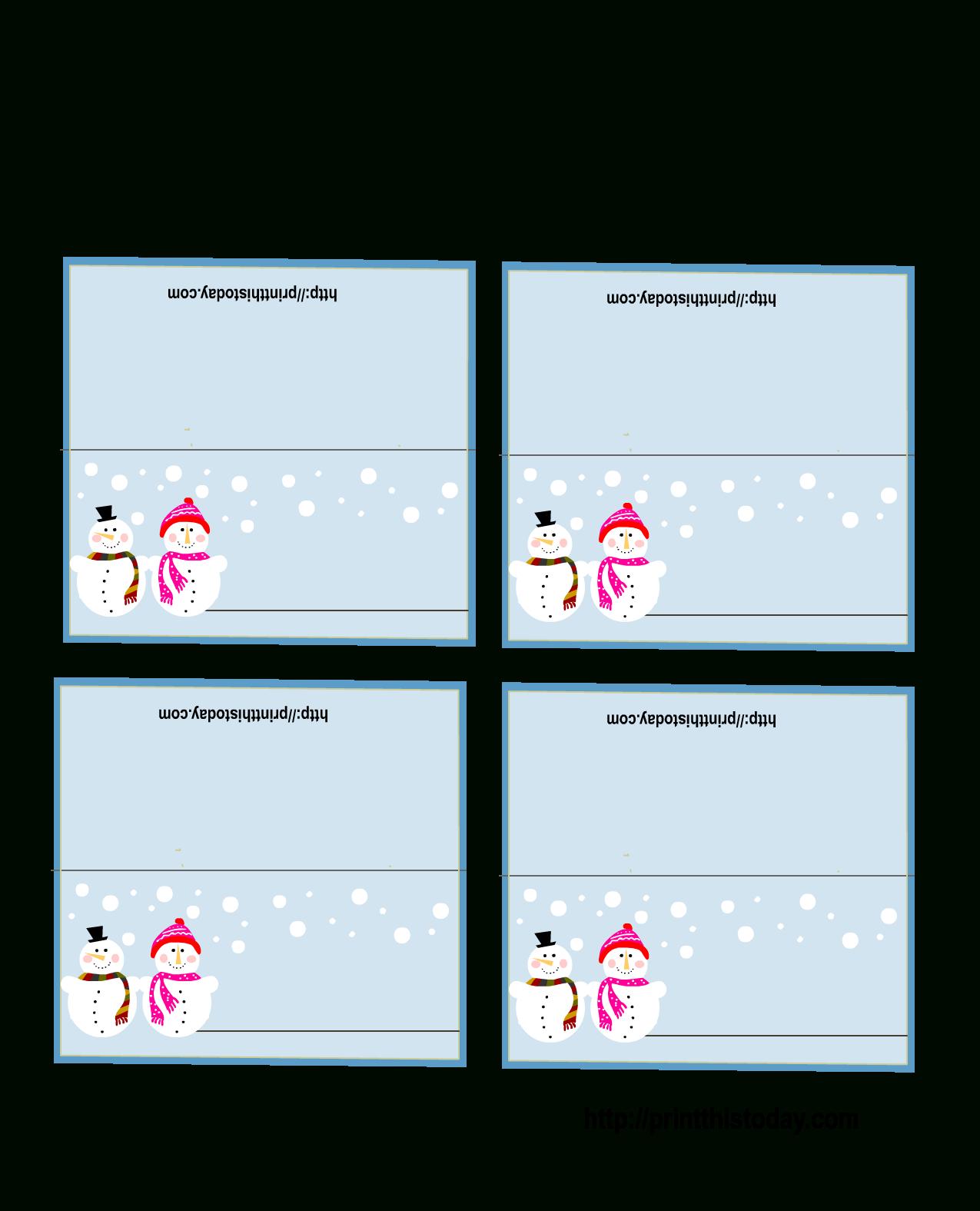 Free Printable Christmas Place-Cards - Free Printable Place Card Templates Christmas
