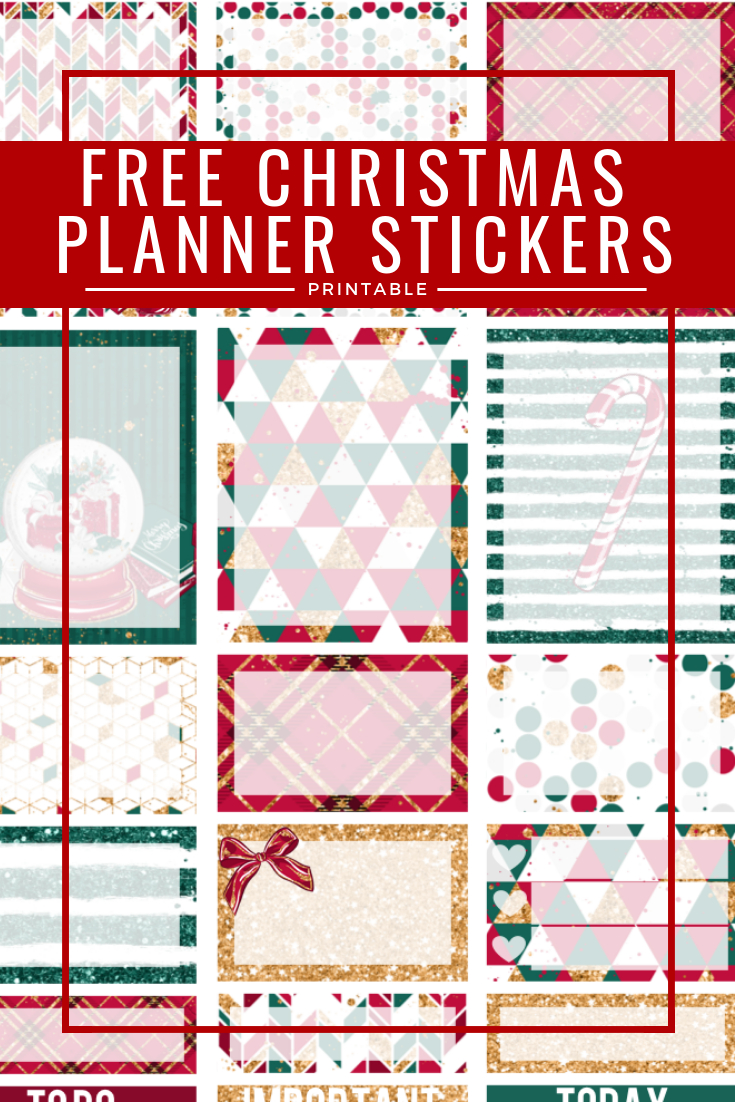 Free Printable Christmas Planner Stickers - Three Little Ferns - Free Printable Planner Stickers Pdf