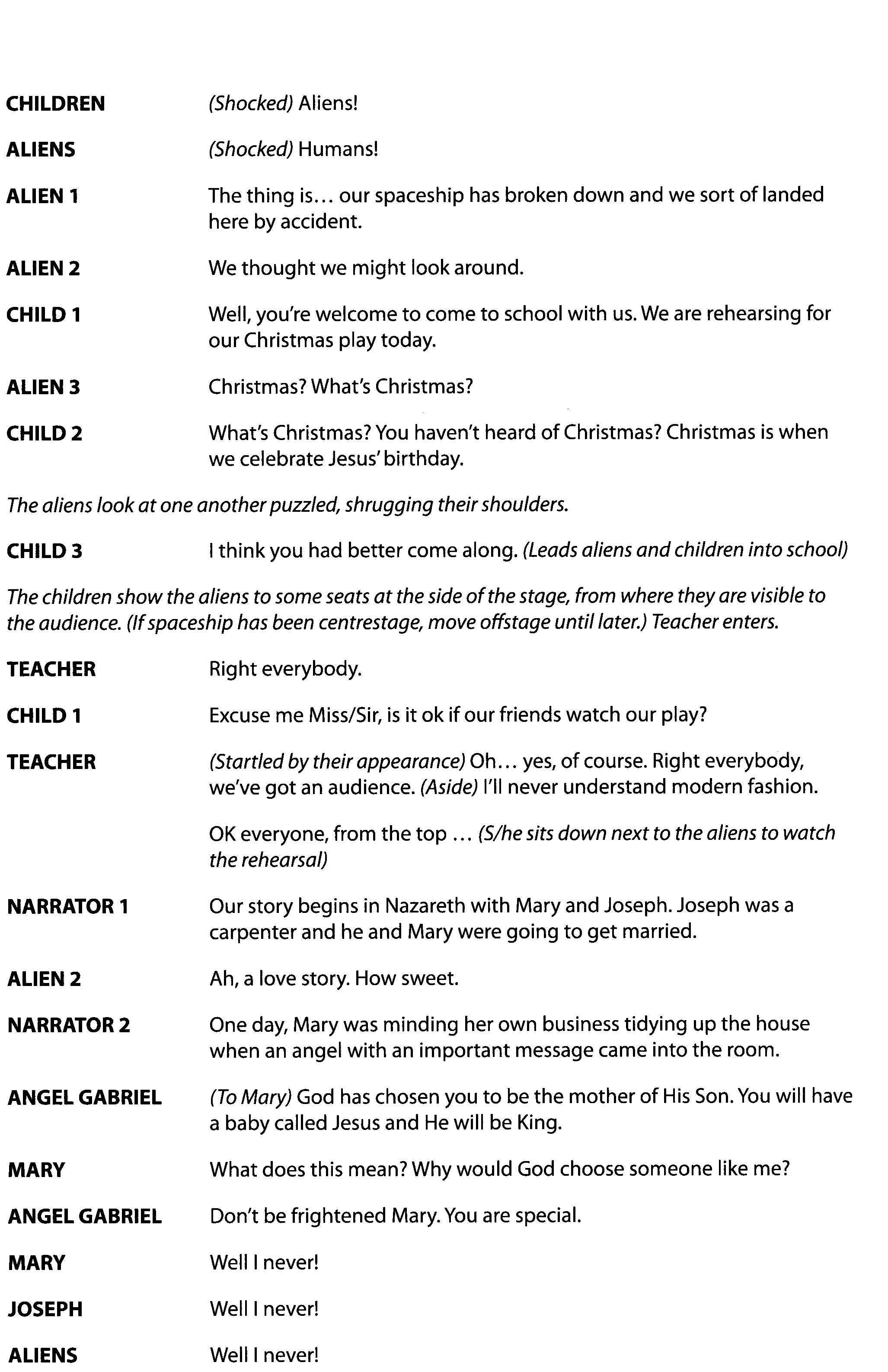 Free Printable Christmas Plays Church – Festival Collections - Free Printable Christmas Plays Church