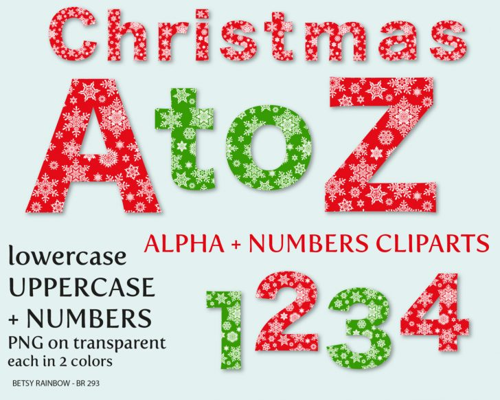 Free Printable Christmas Alphabet