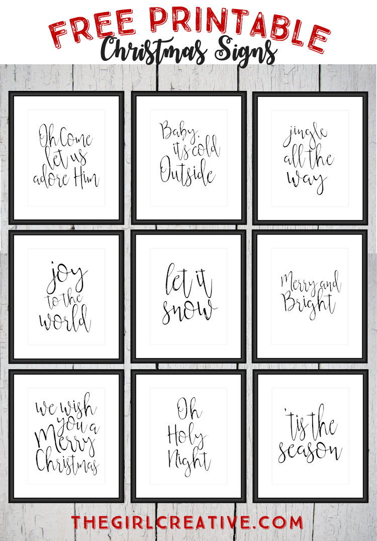 Free Printable Christmas Signs | The Top Pinned | Pinterest - Free Printable Christmas Art