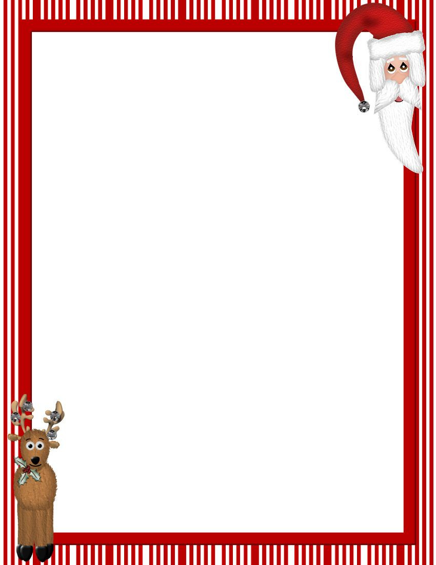Free Printable Christmas Stationary Borders | Christmasstationery - Free Printable Stationary Borders