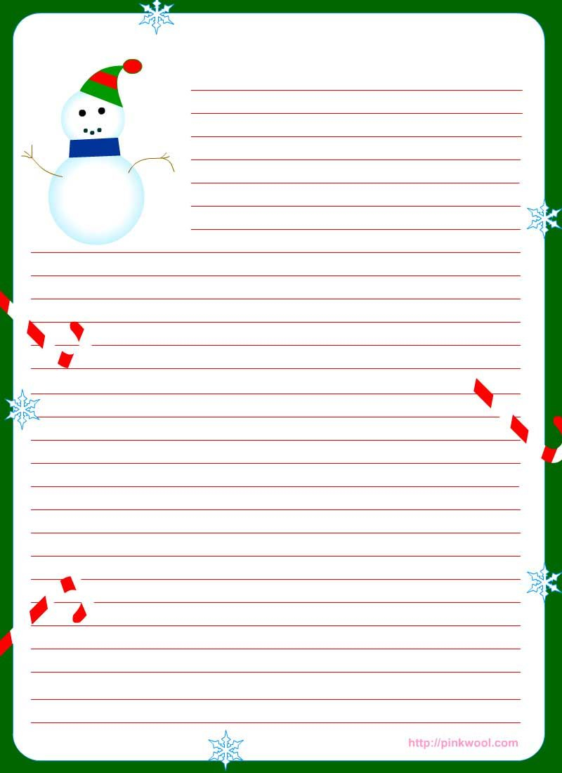 Free Printable Christmas Stationary   Stationary   Christmas - Free Printable Christmas Writing Paper With Lines